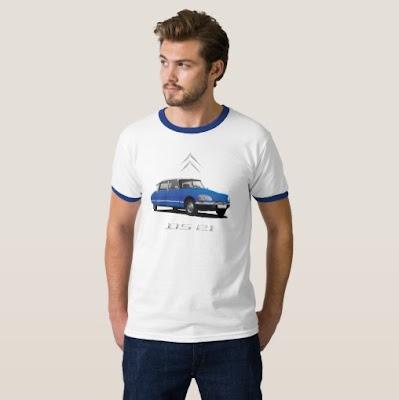Citroën DS skjorta t-paita autopaita