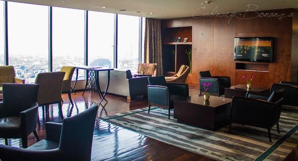 Executive Lounge on 11th floor at Hilton Bandung