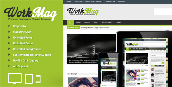 Template Work Mag Responsive