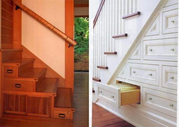 Cajones debajo de escaleras