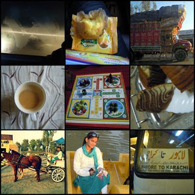1. Misty Daewoo Window / 2. Yummy Mango Cupcake / 3. Truck / 4. Coffee / 5. Ludo / 6. Zebra Cake we baked / 7. Carriage Ride / 8. On boat / 9. Lahore To Karachi Daewoo