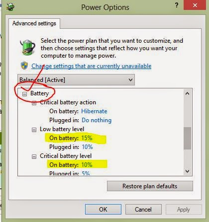 Peringatan Low Battery Laptop