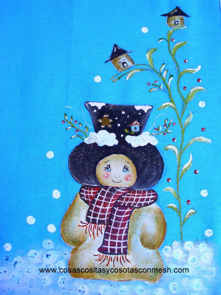 Como pintar un muñeco de Nieve ~ cositasconmesh