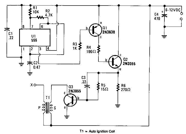 Battery-powered-high-voltage-generator Circuit Diagram