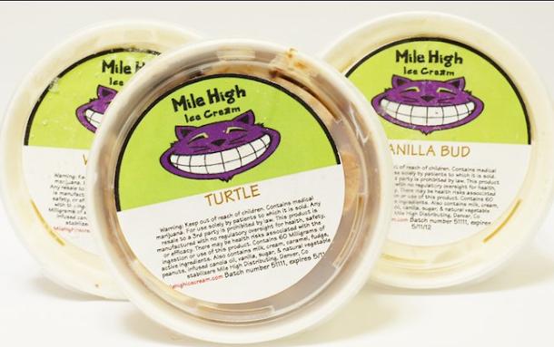 O sorvete Mile High é feito com maconha, você pode compra-los legalmente no Colorado.