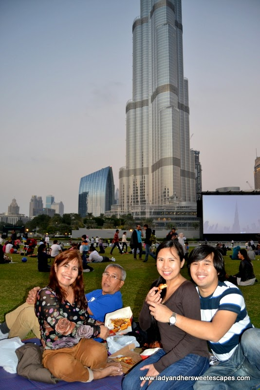 Family at Burj Park