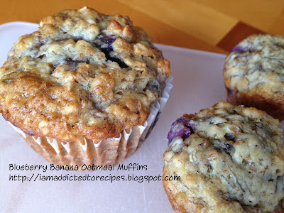 Banana Blueberry Muffins | Addicted to Recipes