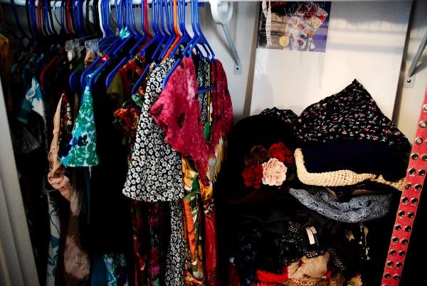 a lot of dresses