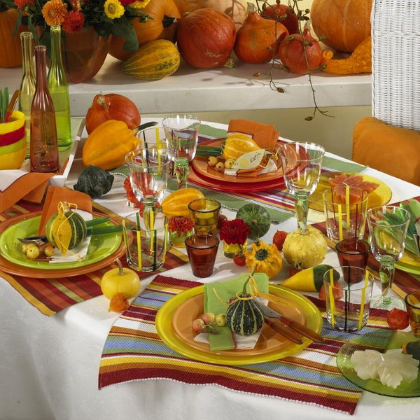 Home decoration design decoration ideas for thanksgiving Simple thanksgiving table decorations