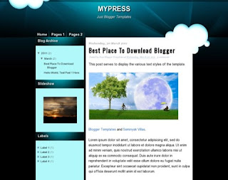 MyPress Blogger Template