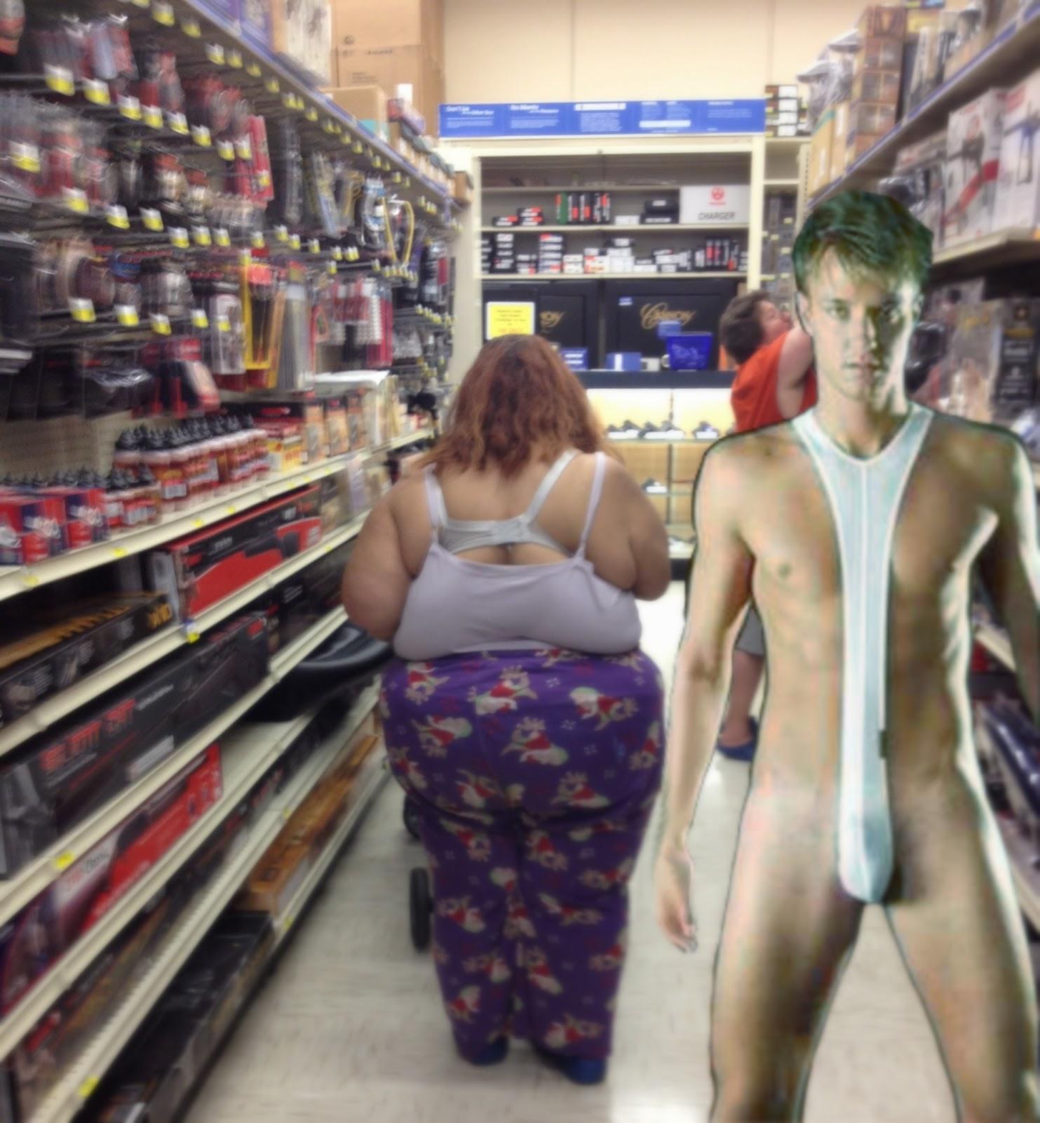 wife caught nude in public