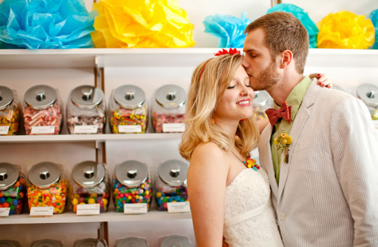 Matrimonio a tema candy, candy wedding, candy shop wedding