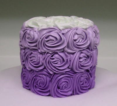 Purple Ombre Rose Cake 2