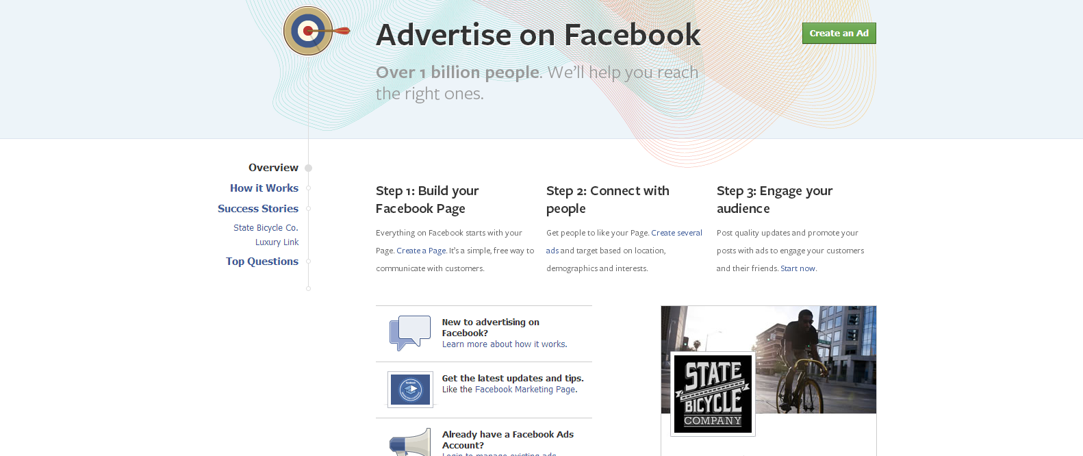 Facebook Ads Home Page