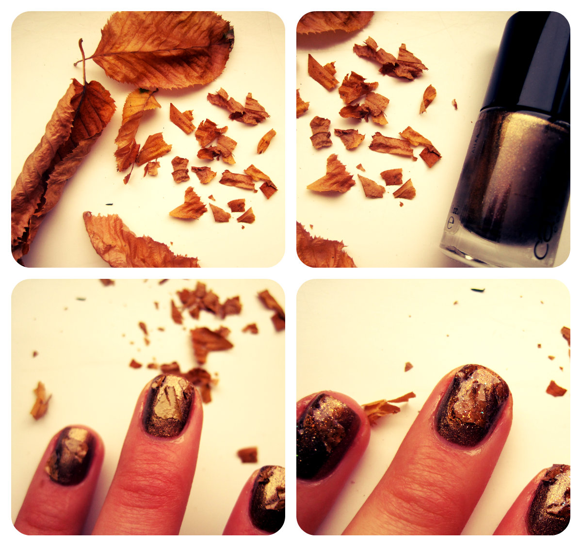The Polish Playground Glittery Autumn Leaf Nail Art: The Treasure Chest: October 2012