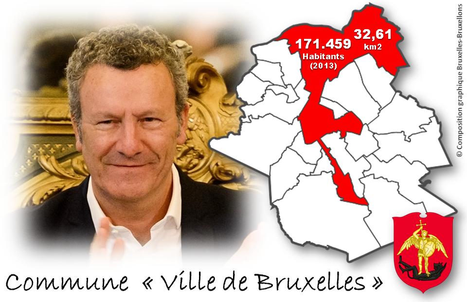"""""""Villle de Bruxelles"""" la plus importante des 19 communes bruxelloises en superficie, nombre d'habitants et budget - Bourgmestre: Yvan Mayeur - Bruxelles-Bruxellons"""