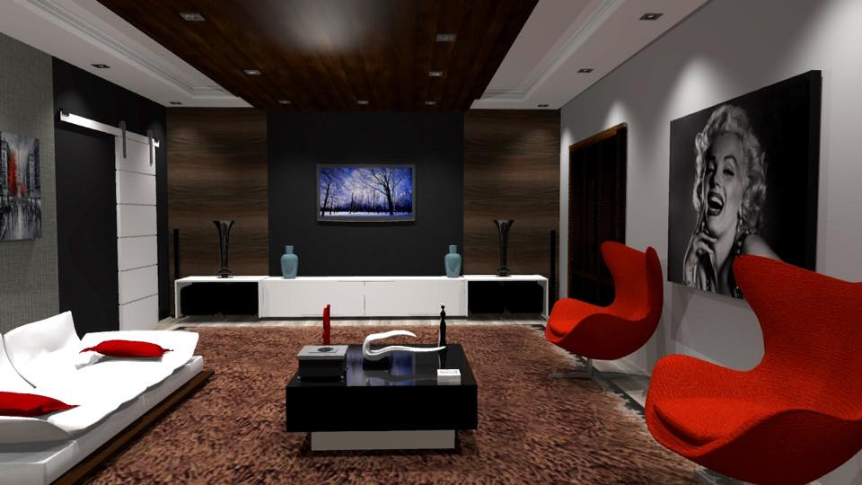 Kw projetos sala home theater - Sala home theatre ...