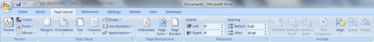 Pengertian dan Mengenal Fungsi Microsoft Word 2007