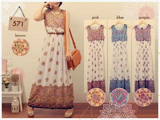 Ethnic Floral Maxi Dress