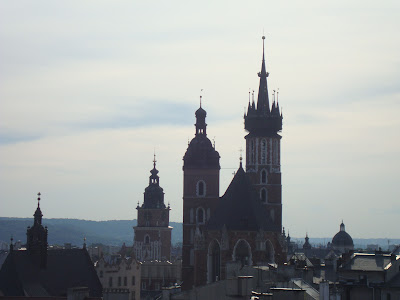 Church Towers in Krakow, Poland, by Maja Trochimczyk