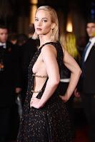 Jennifer Lawrence reveals side boob at The Hunger Games: Mockingjay Part 2 London Premiere