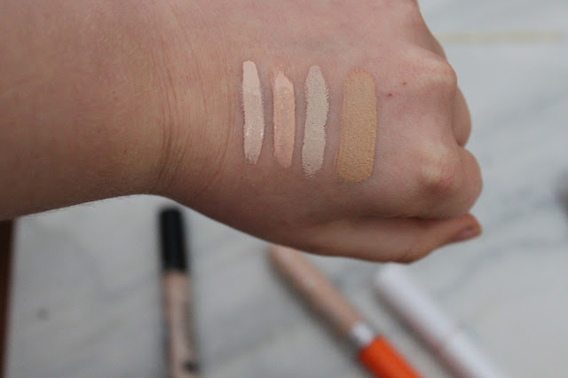 Collection, Rimmel, No7, Maybelline concealers