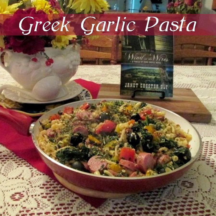 Greek Garlic Pasta