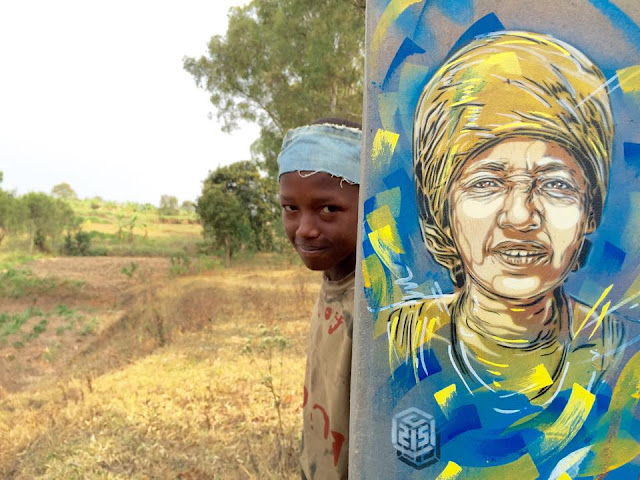 French stencil artist Christian Guemy aka C215 is currently touring through Rwanda where he already left several new pieces.