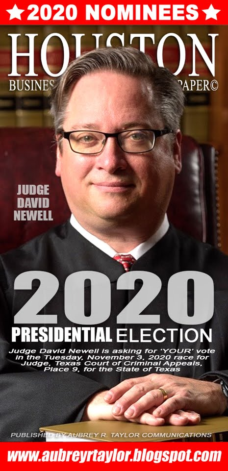 Judge Kevin Newell for Judge, Texas Court of Criminal Appeals on Tuesday, November 3, 2020