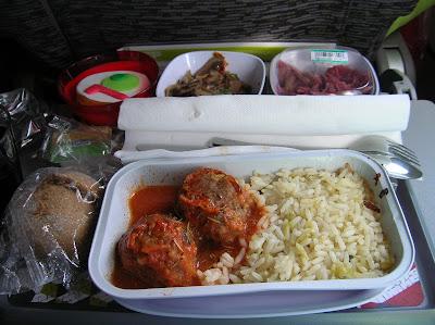 Comida vuelo TAP, Lisboa  a Río de Janeiro