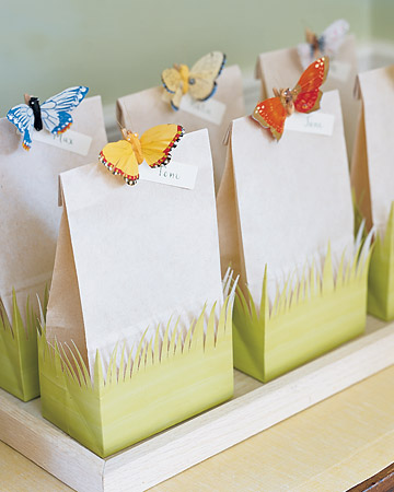 Do it yourself weddings gift favor bags with butterfly theme martha stewart once again comes through with a diy project that wows these butterfly bags can be filled with soap stationary cookies or almost any favor solutioingenieria Choice Image