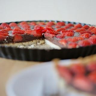 Schoko Nougat Erdbeer Tarte