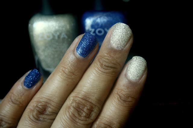 Zoya Nail Polish Fall PixieDust in Sunshine and Tomoko Swatches