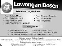 Lowongan Dosen Terbaru, Universitas Nusantara PGRI Kediri Butuh Dosen
