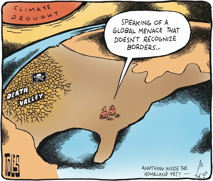Tom Toles: Homeland Drought.