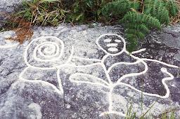 Petroglifo. Yacimiento Potrero Perdido loma de Maya Colonia Tovar. Estado Aragua Venezuela.