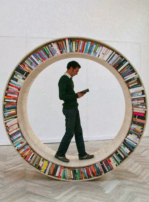 How's This for a Cool Book Shelf?