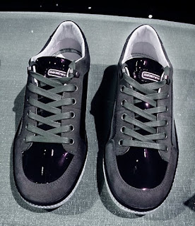 Emporio Armani Men's Patent Leather Sneakers.