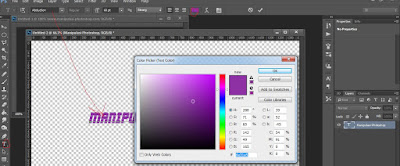 Text Tutorial Photoshop Efek Tulisan Bayangan