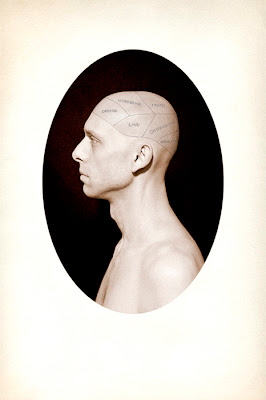 Phrenology, 2011, Salt print with ink, 16 x 20 in