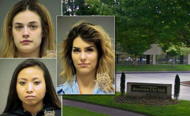 Three Women Arrested For Twerking And Peeing On City Hall