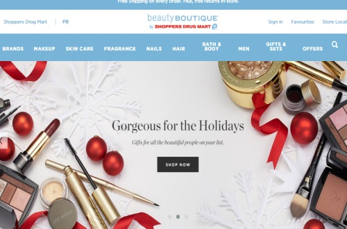 Beauty Boutique by Shoppers Drug Mart Free Shipping For the Holidays