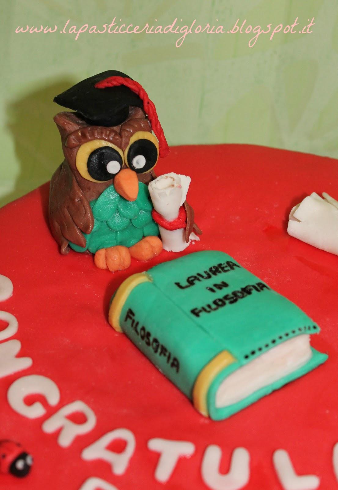 La pasticceria di gloria torta di laurea for Decorazioni per torte di laurea