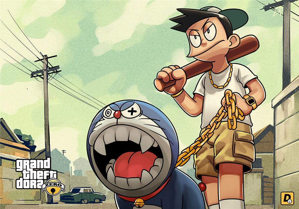 Gta 5 Versi Doraemon Tampil Nobita Nampak Keren Sekedar Info