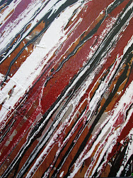 """ Blacking Streaking Black Red ""  (16x18)"
