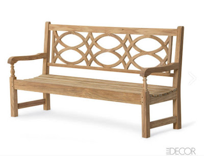 mid-century modern landscaping garden park bench