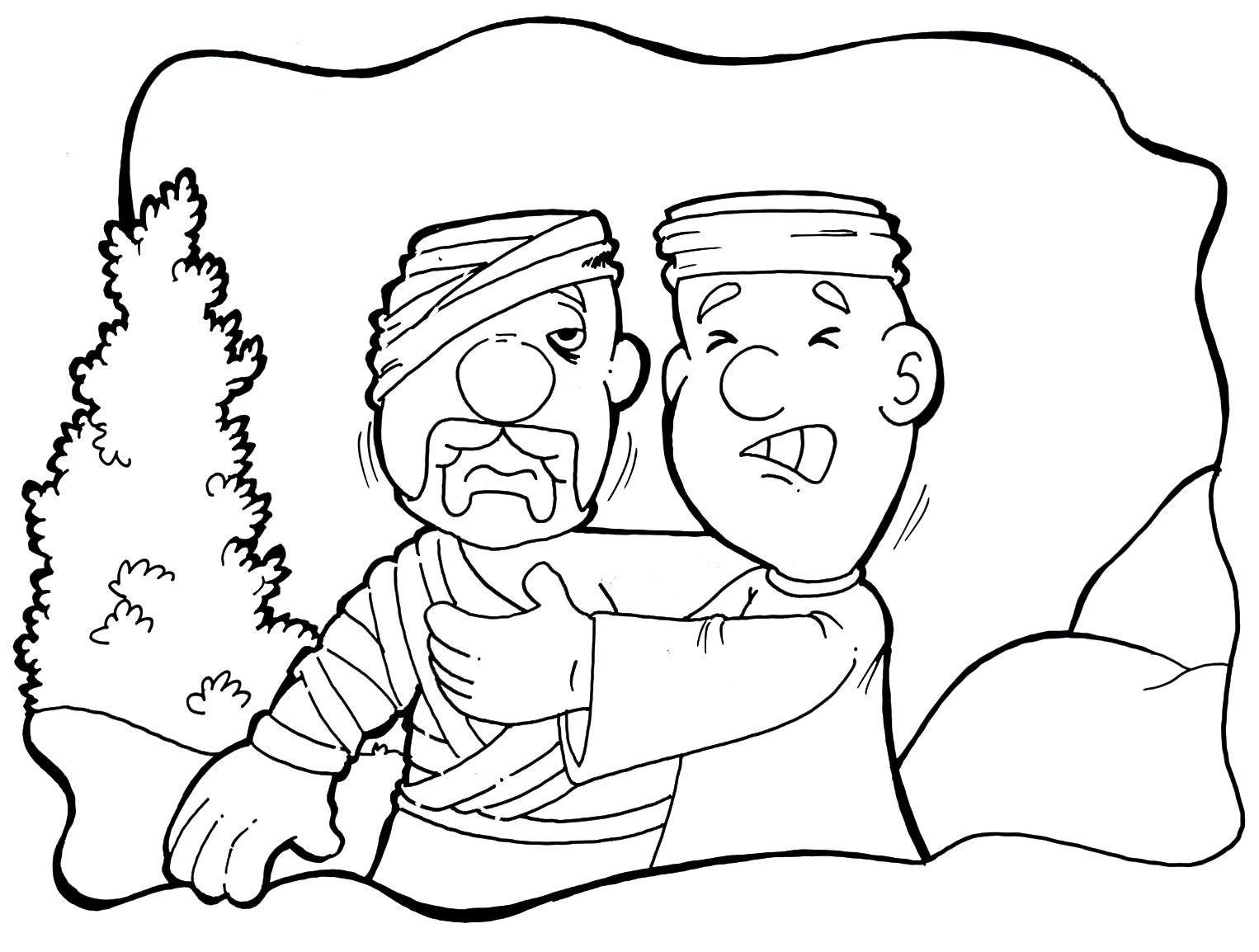 desenhos para colorir o bom samaritano cantinho do educador infantil