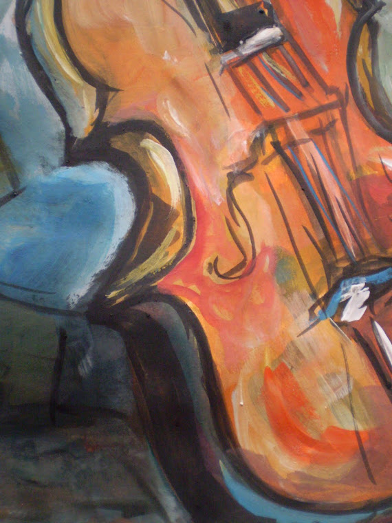 The violin, detail1