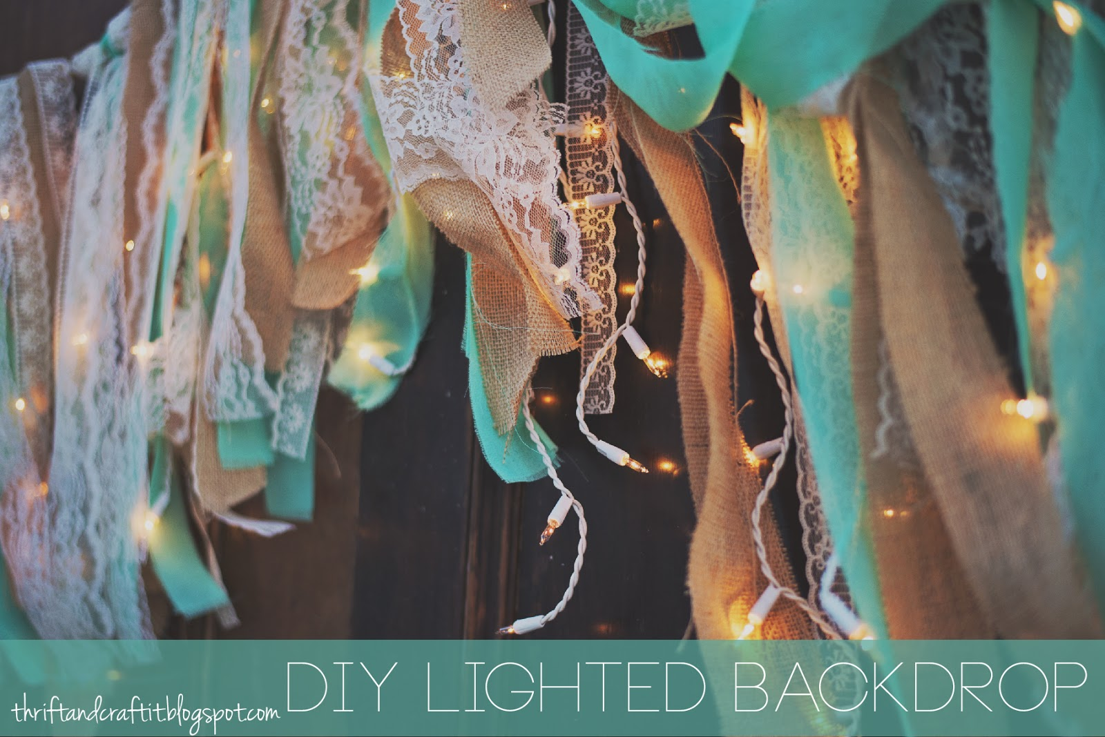 Thrift and Craft It: DIY Wedding Backdrop