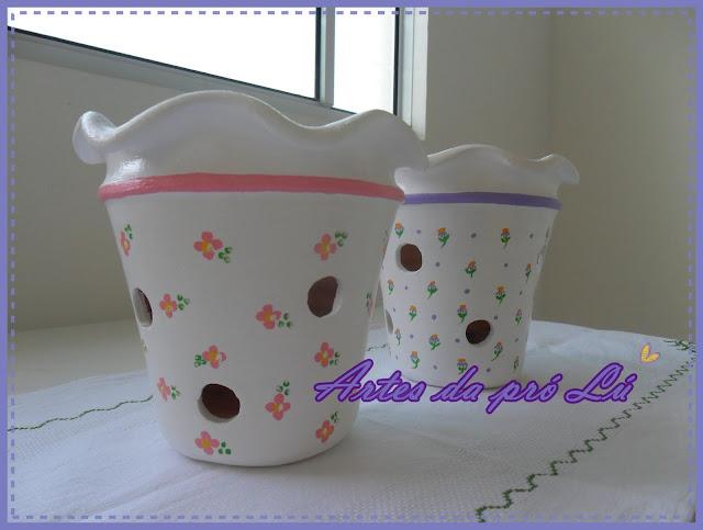 Artes da pr l decorando a rea externa com plantas for Como pintar jarrones de ceramica